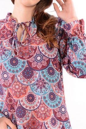 Bluzka SISI we wzory niebieskie
