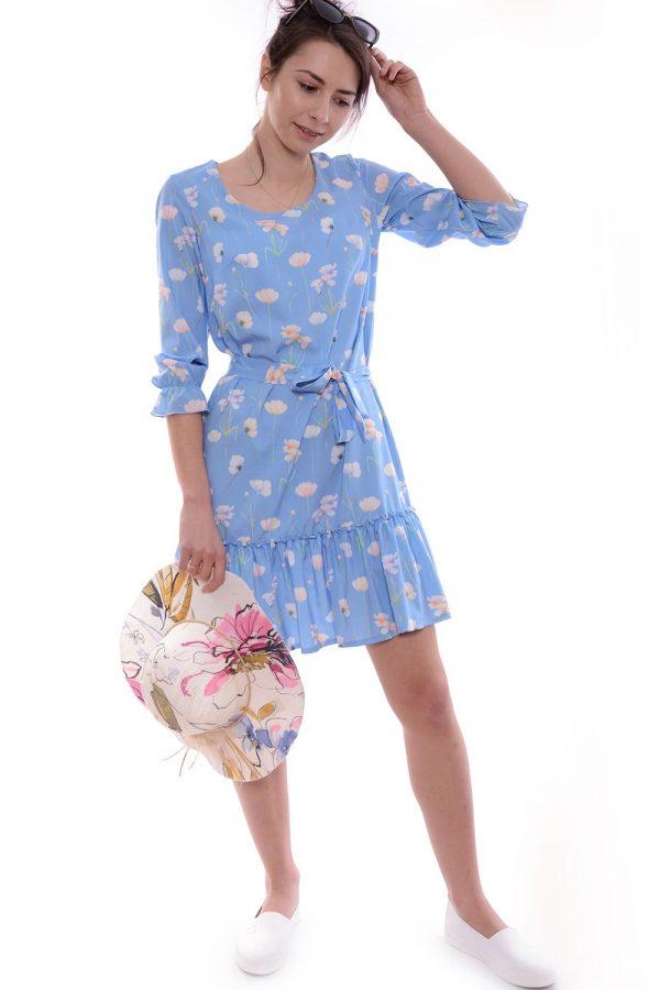 Sukienka KINGA niebieska