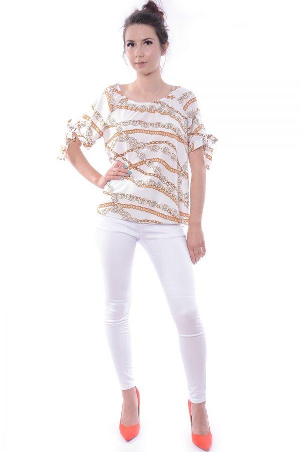 Bluzka ALISA w złote łańcuchy