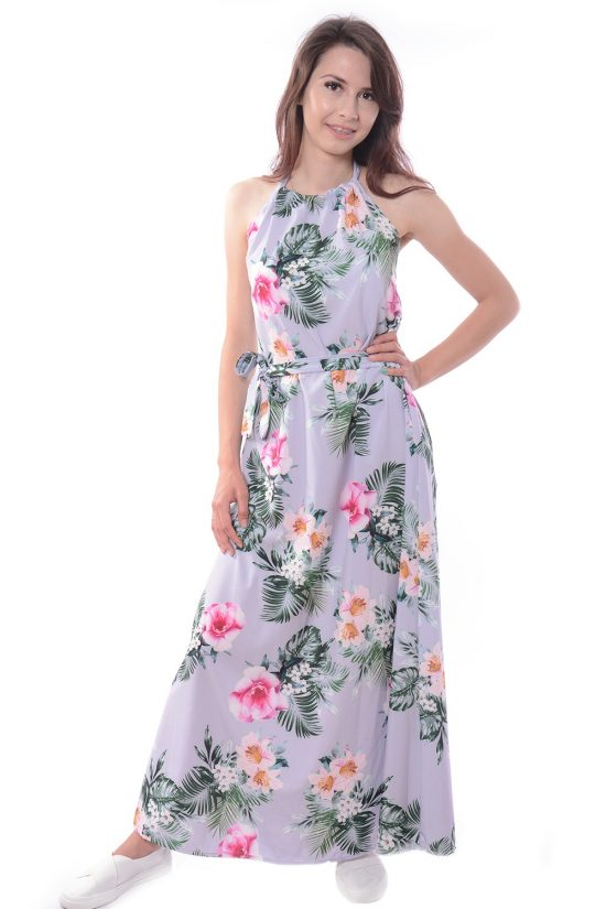Sukienka maxi LEAVI szara