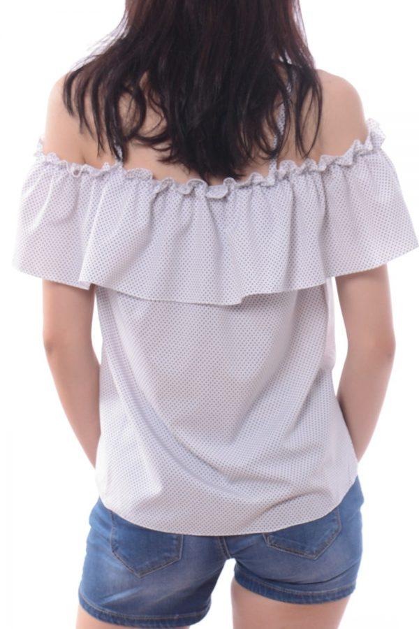 Bluzka KATHLEEN biała w kropki