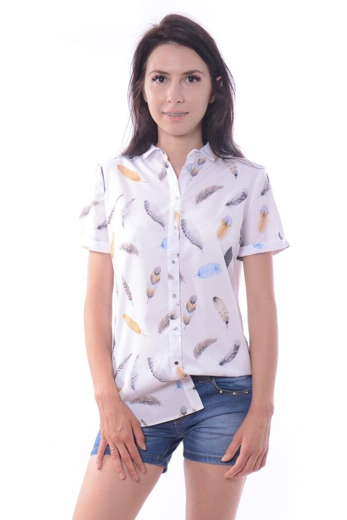 Koszula MILO biała w piórka