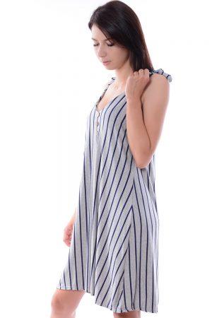 Sukienka dresowa w paski MILO szara