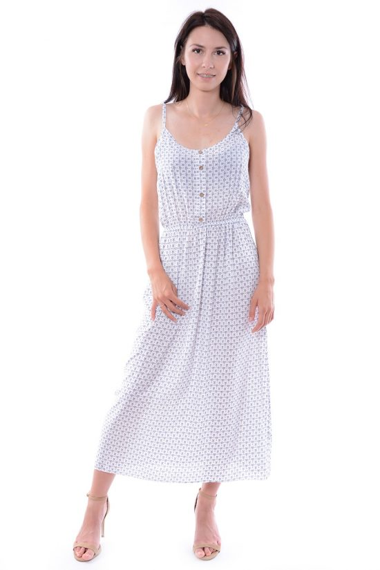 Sukienka w kwiatuszki BALI biała