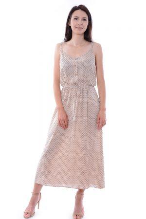 Sukienka w kwiatuszki BALI beżowa