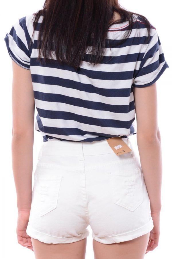 Spodenki jeansowe białe GLEN