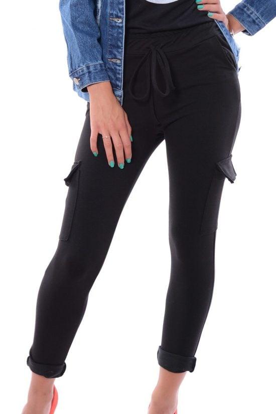 Spodnie dresowe GRETA czarne