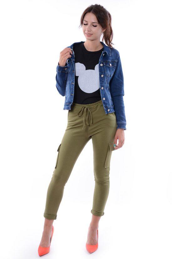 Spodnie dresowe GRETA khaki