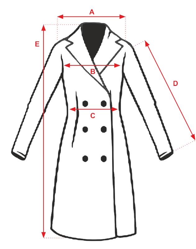 Płaszcz ELLIE  - tabela