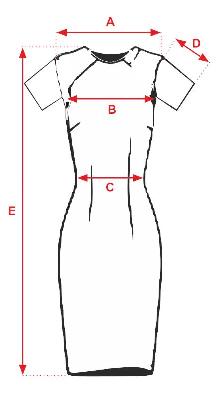 Sukienka czarna AISCHA- tabela rozmiarów
