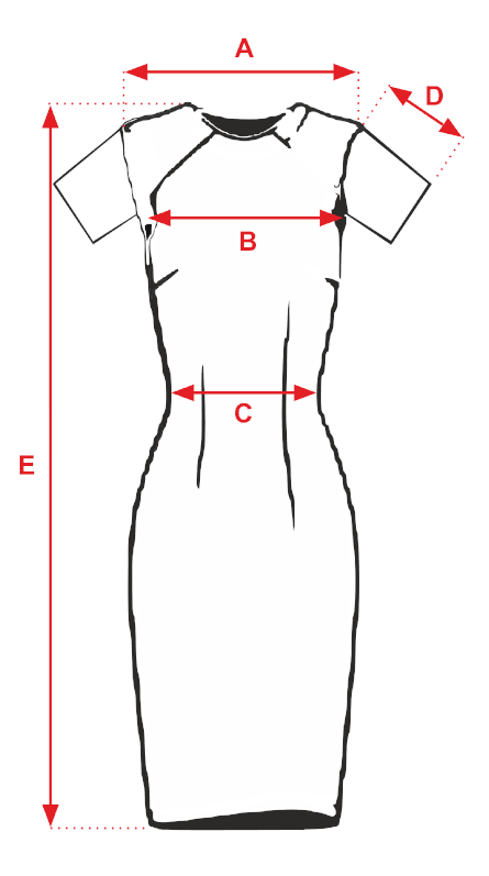 Sukienka brązowa DENVER - tabela