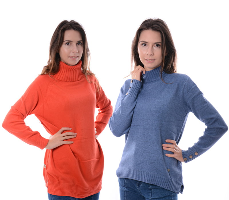swetry i golfy damskie polgolfy